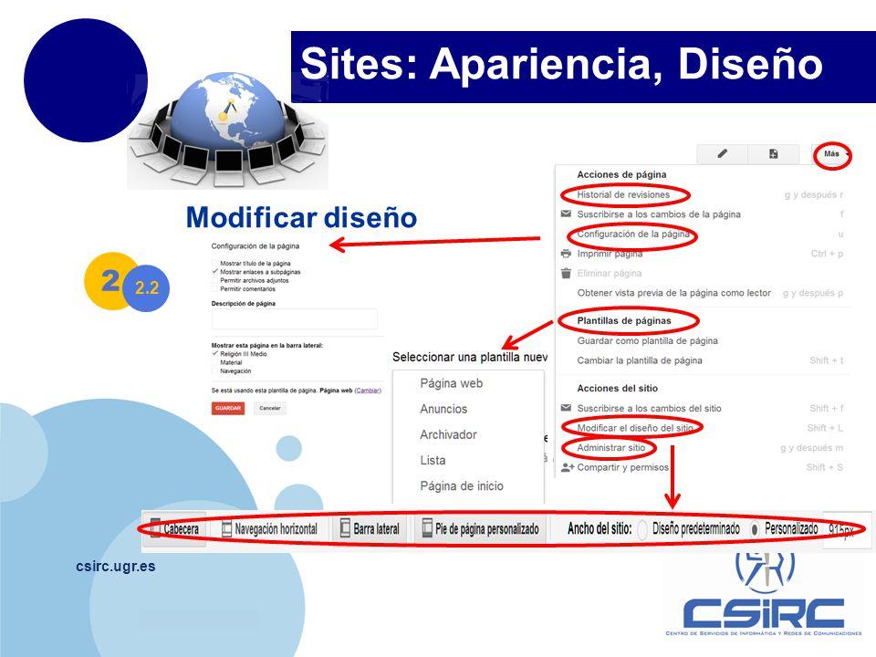 Sites: Apariencia, Diseño