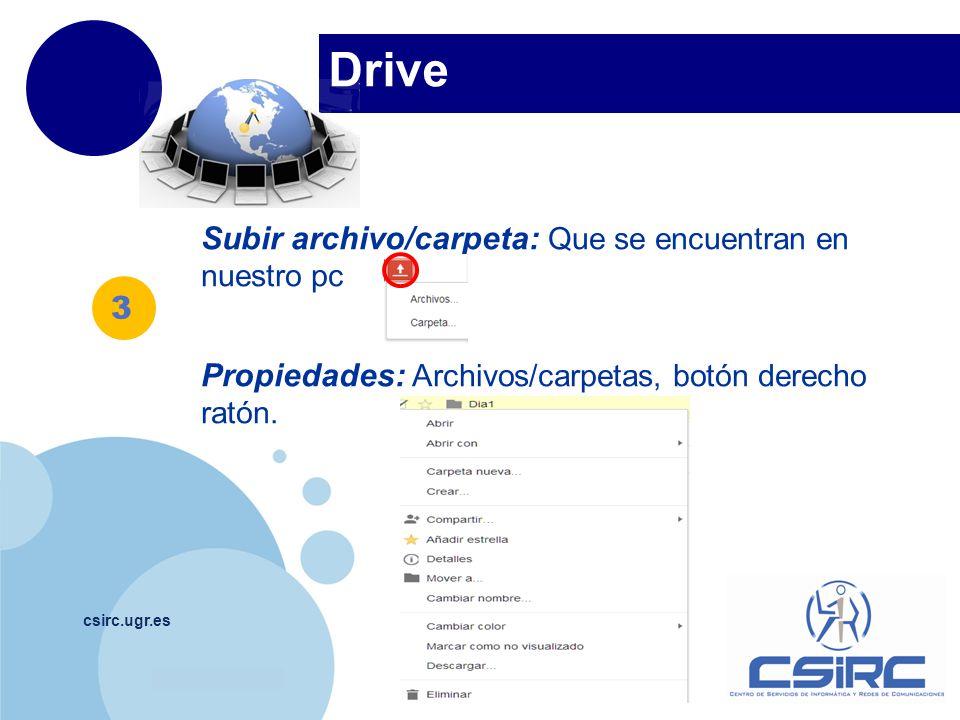 Drive Subir archivo/carpeta: Que se encuentran en nuestro pc 3