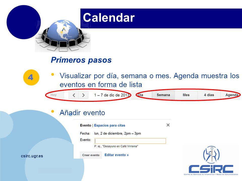 Calendar Primeros pasos 4