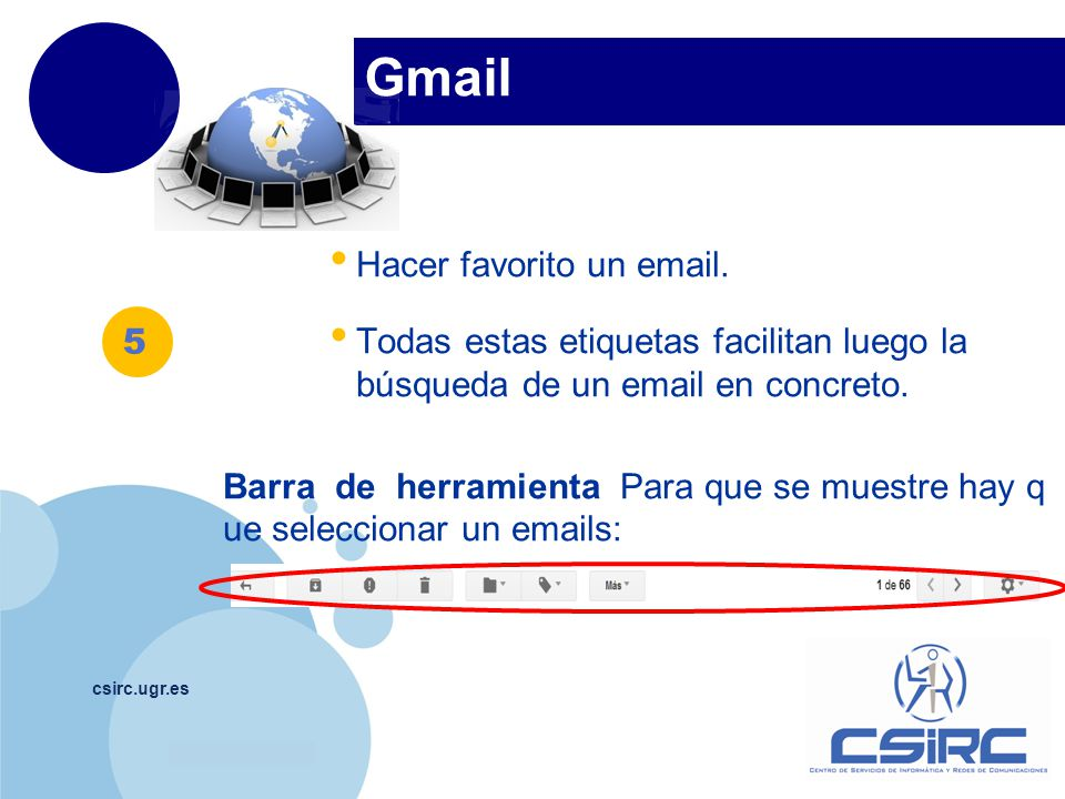 Gmail Hacer favorito un email.
