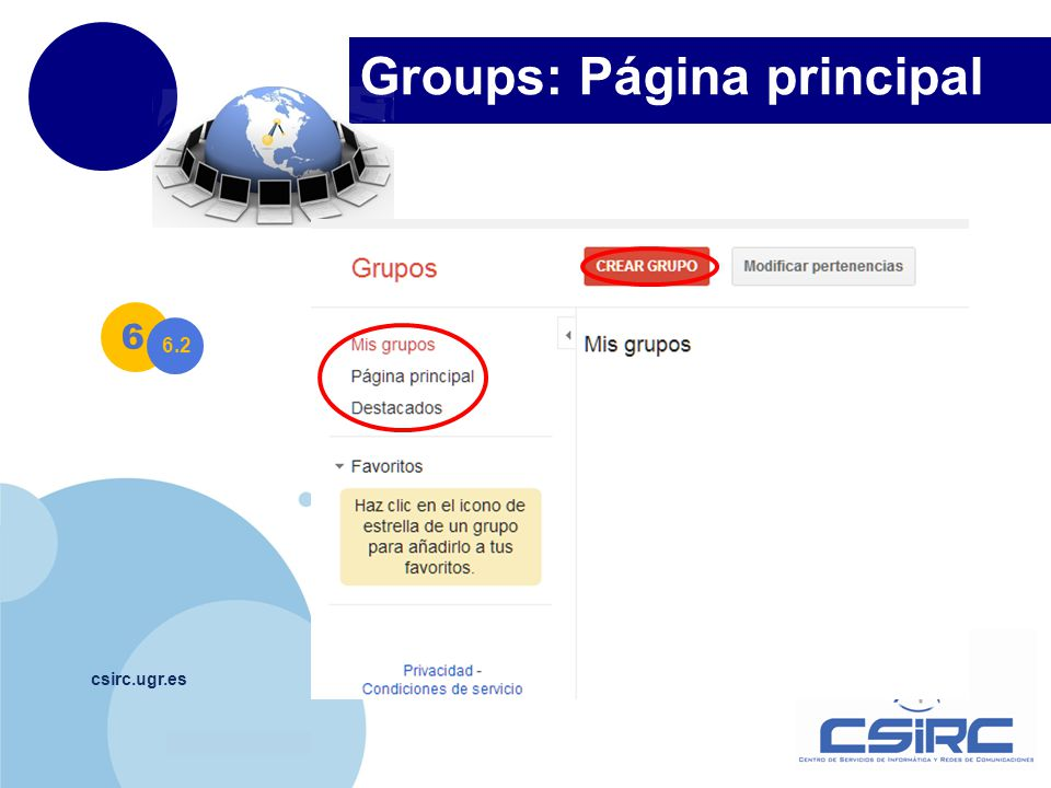 Groups: Página principal