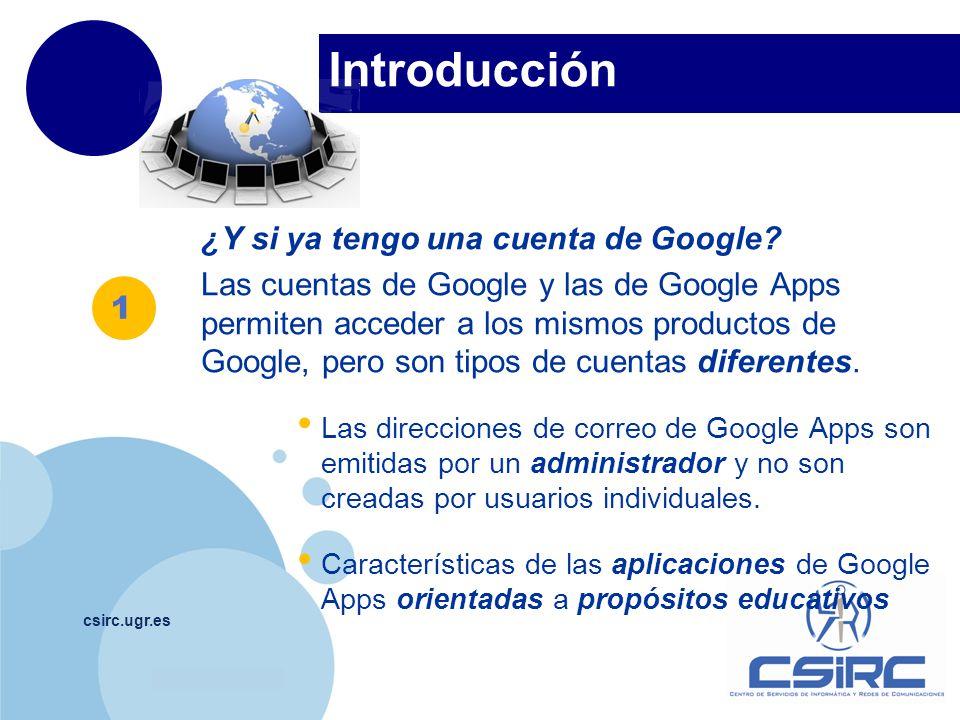 Introducción ¿Y si ya tengo una cuenta de Google