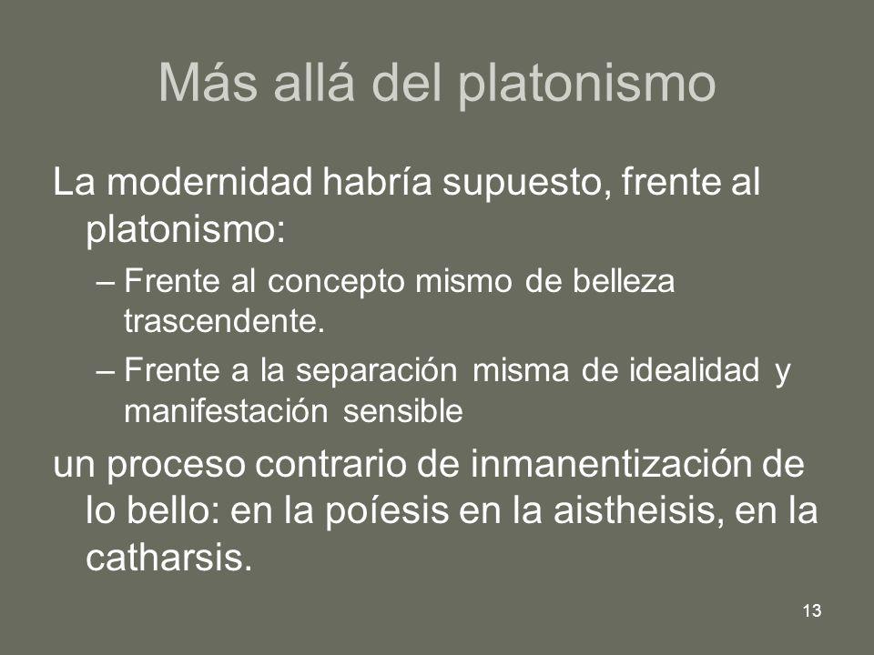 Más allá del platonismo