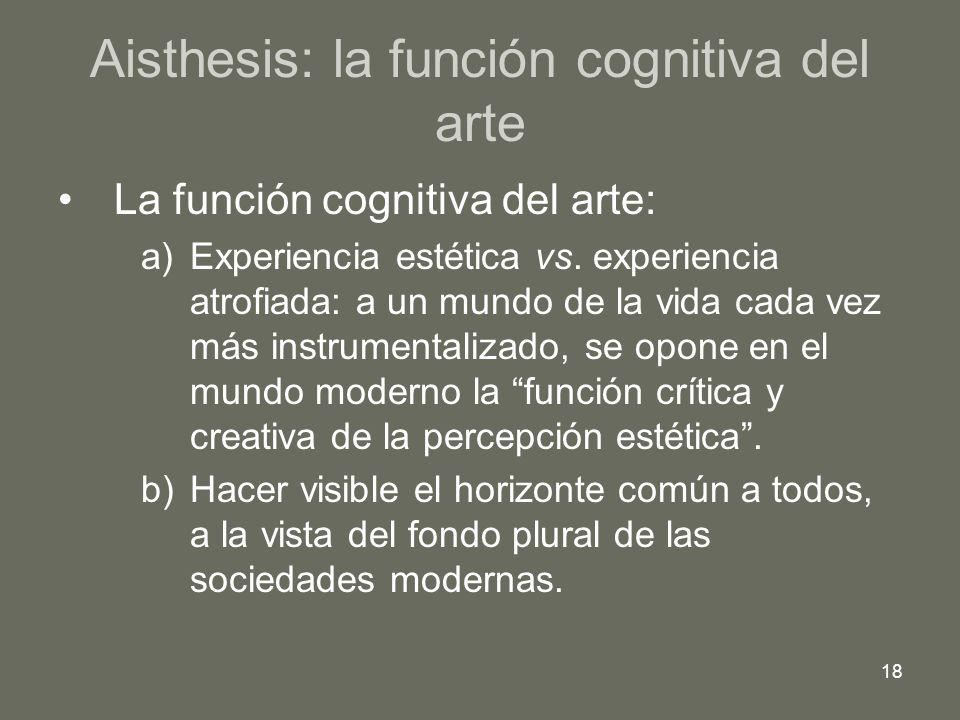 Aisthesis: la función cognitiva del arte