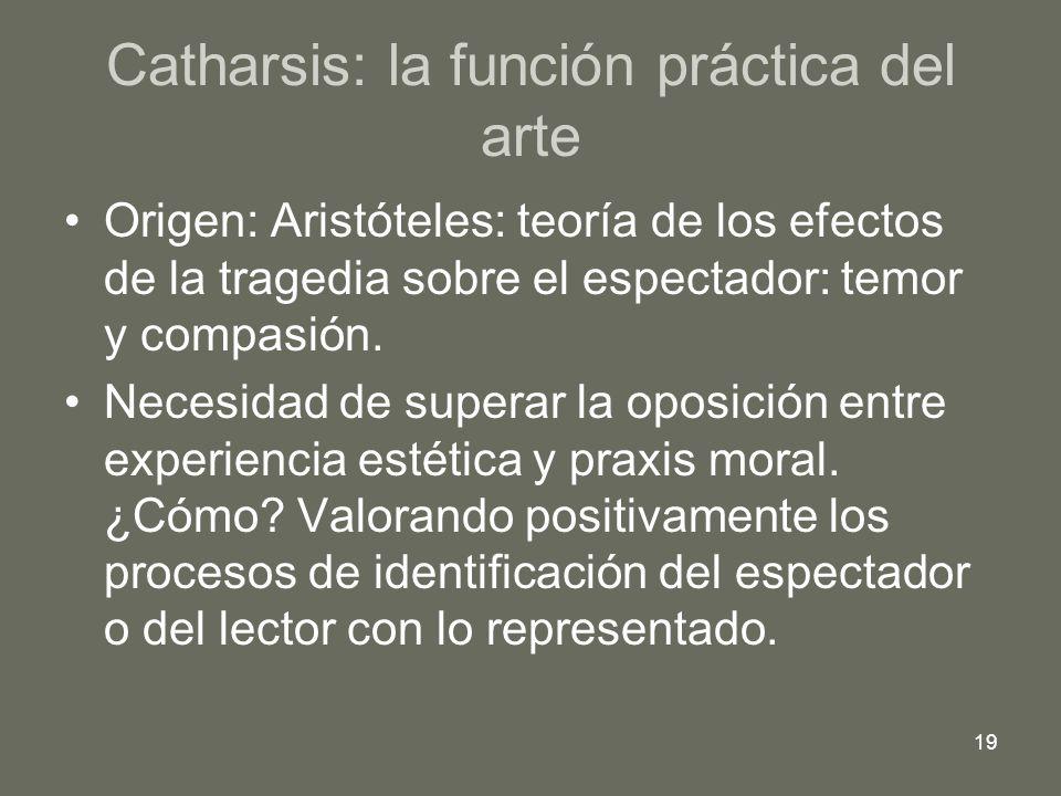 Catharsis: la función práctica del arte