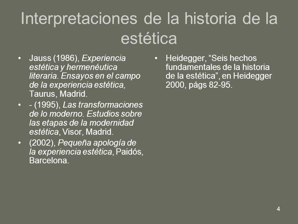 Interpretaciones de la historia de la estética