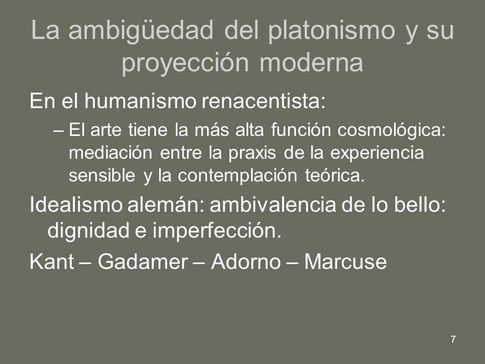 La ambigüedad del platonismo y su proyección moderna