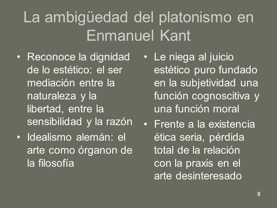 La ambigüedad del platonismo en Enmanuel Kant