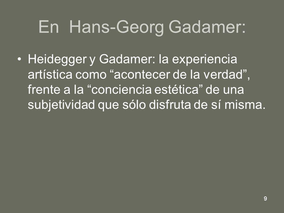 En Hans-Georg Gadamer: