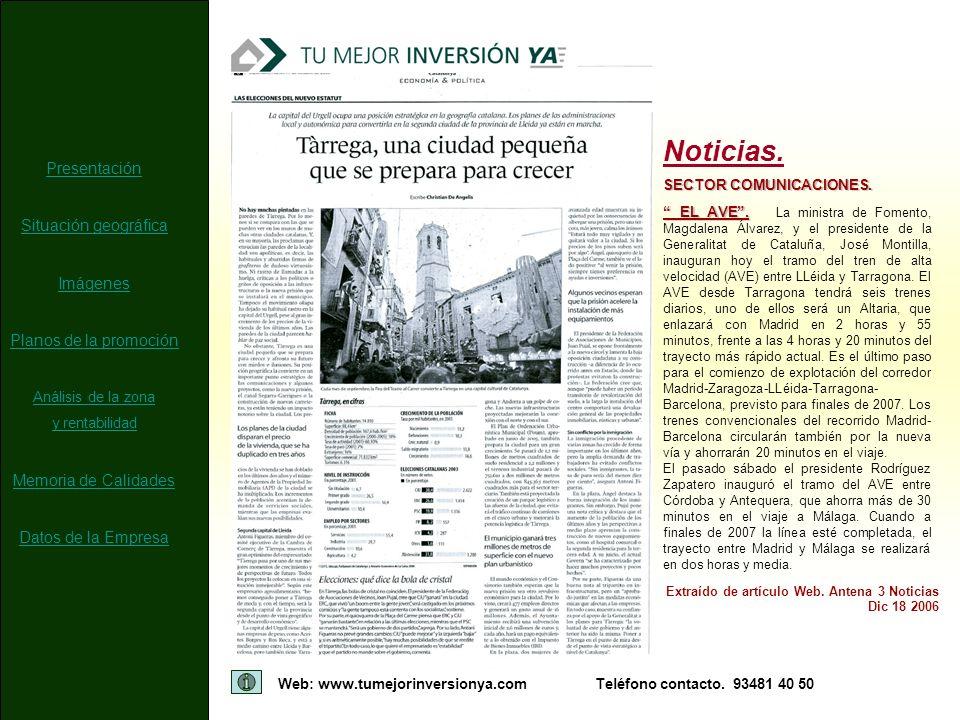 Noticias. Presentación Situación geográfica Imágenes