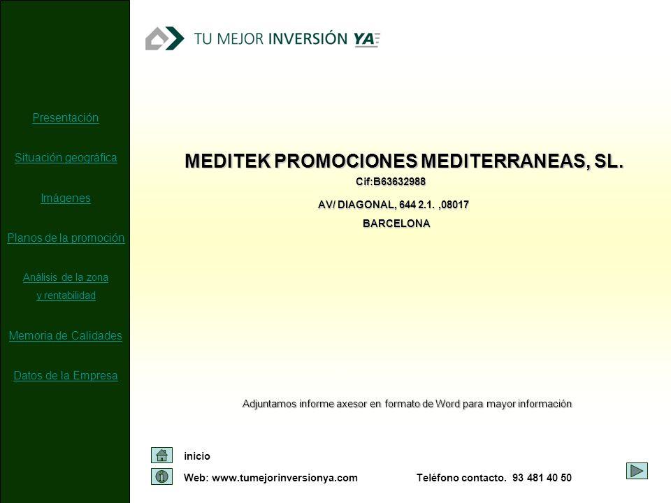 MEDITEK PROMOCIONES MEDITERRANEAS, SL.