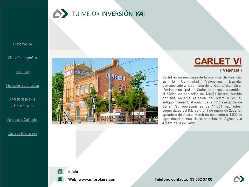CARLET VI ( Valencia ) Presentación Situación geográfica Imágenes
