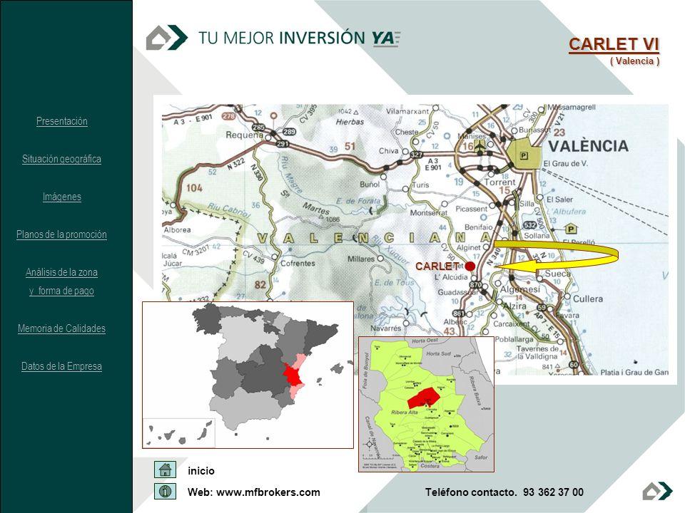 CARLET VI Presentación Situación geográfica Imágenes
