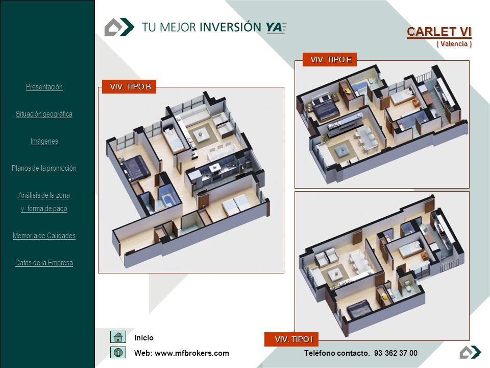 CARLET VI VIV. TIPO E Presentación Situación geográfica Imágenes