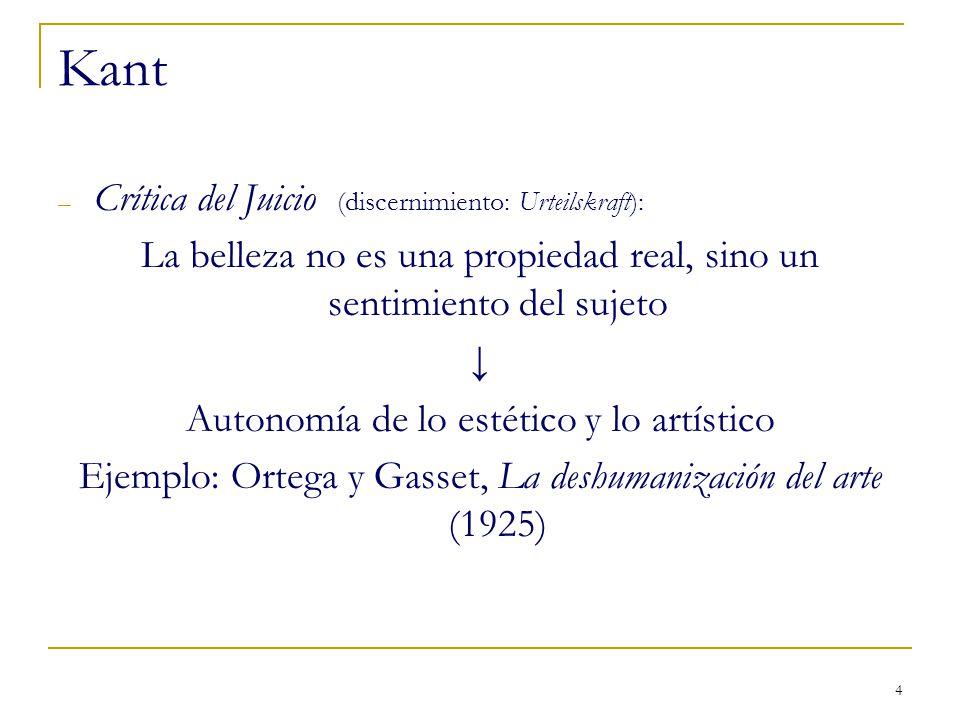 Kant Crítica del Juicio (discernimiento: Urteilskraft):