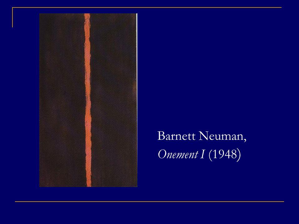 Barnett Neuman, Onement I (1948)