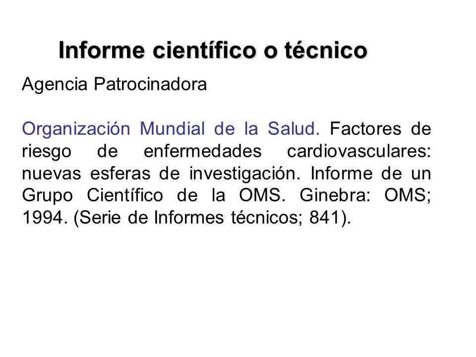 Informe científico o técnico