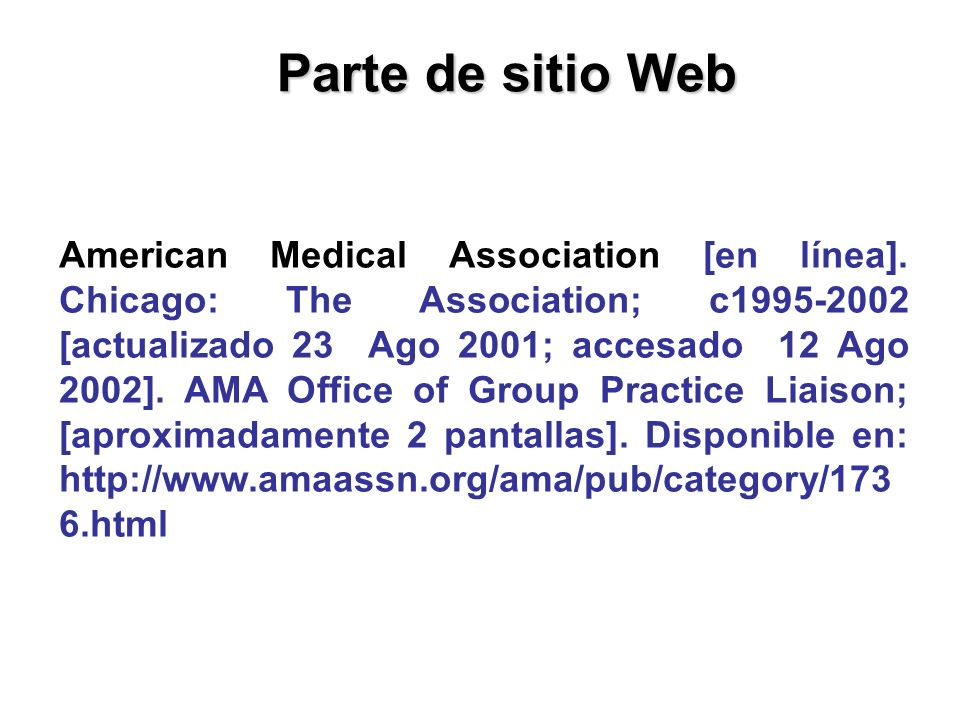 Parte de sitio Web