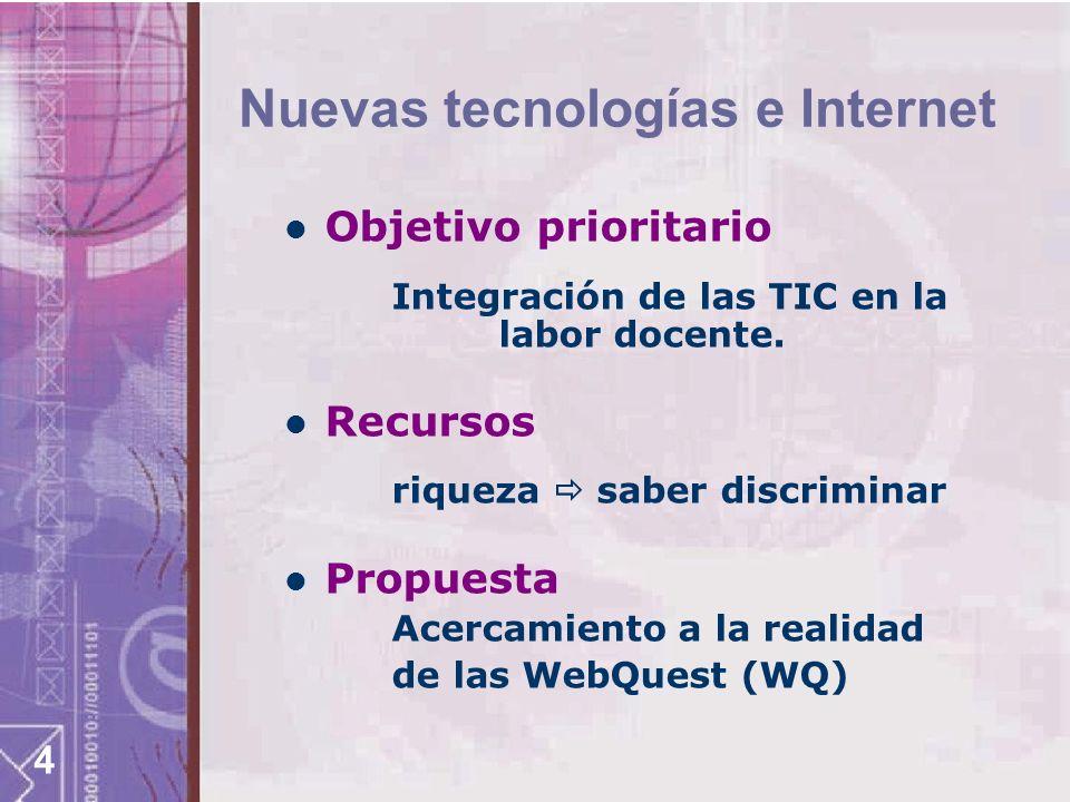 Nuevas tecnologías e Internet