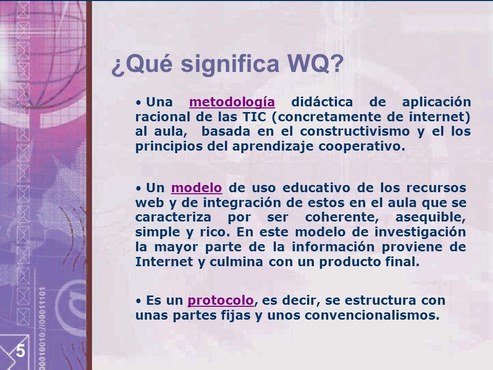 ¿Qué significa WQ