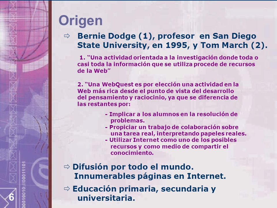 OrigenBernie Dodge (1), profesor en San Diego State University, en 1995, y Tom March (2).