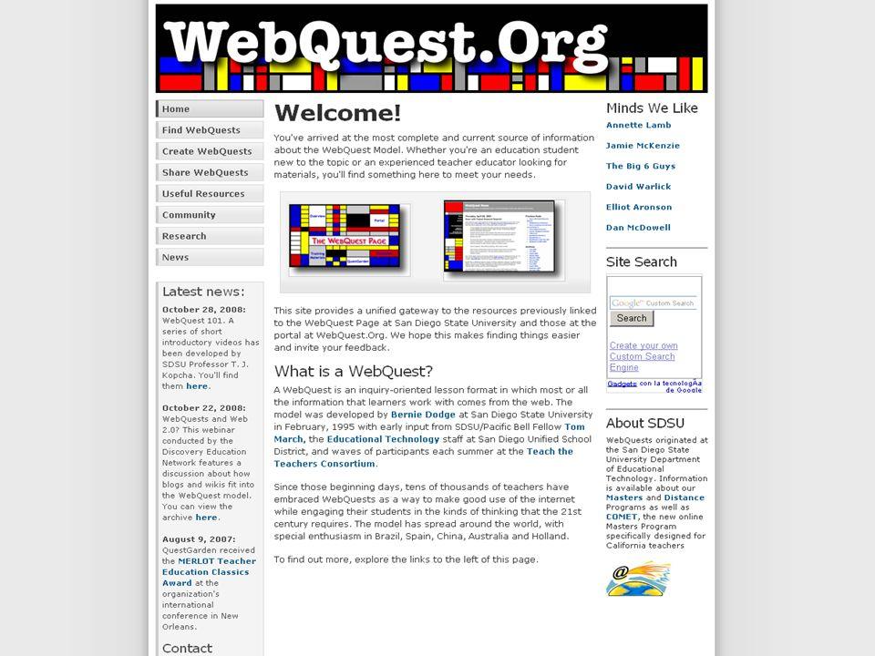 http://webquest.sdsu.edu http://webquest.org
