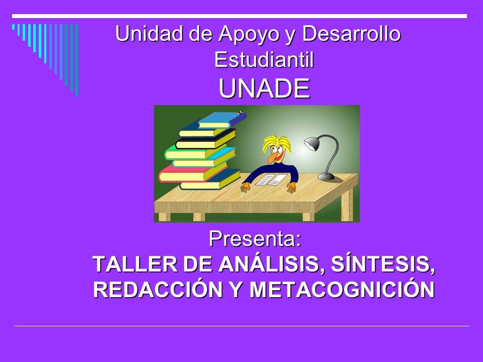 Unidad de Apoyo y Desarrollo Estudiantil UNADE