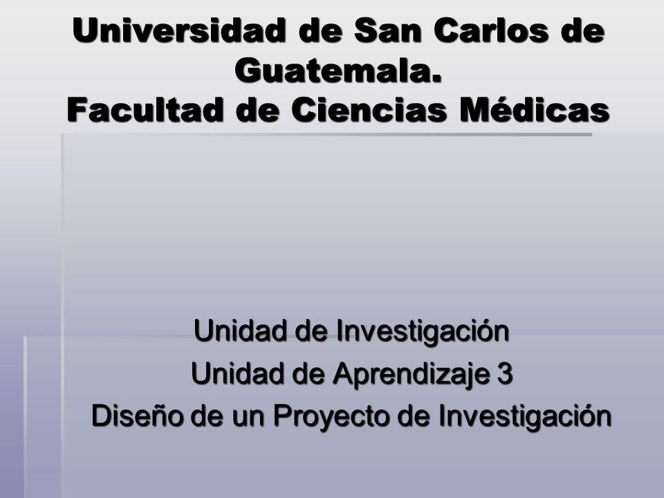 Universidad de San Carlos de Guatemala. Facultad de Ciencias Médicas