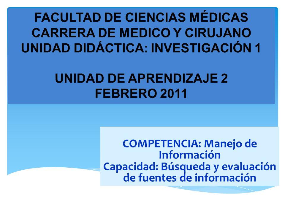 FACULTAD DE CIENCIAS MÉDICAS CARRERA DE MEDICO Y CIRUJANO