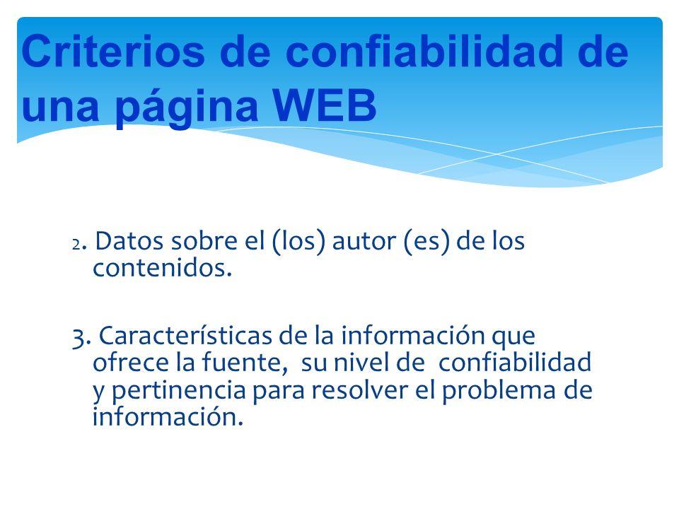 Criterios de confiabilidad de una página WEB