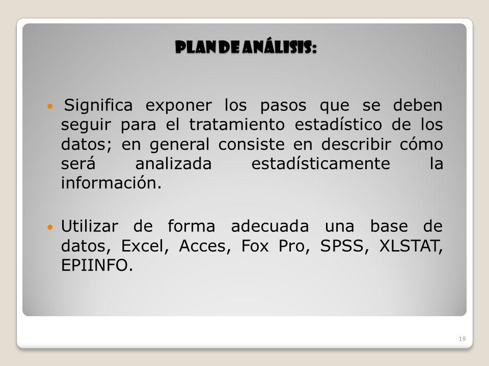 Plan de Análisis: