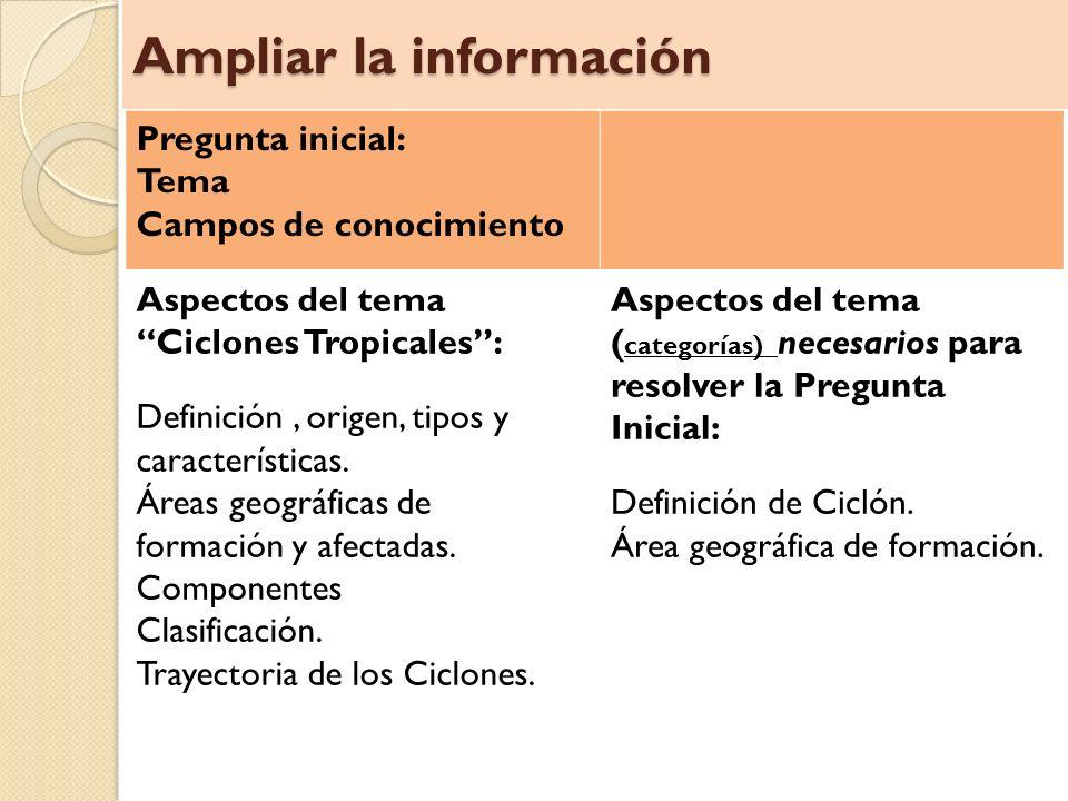 Ampliar la información