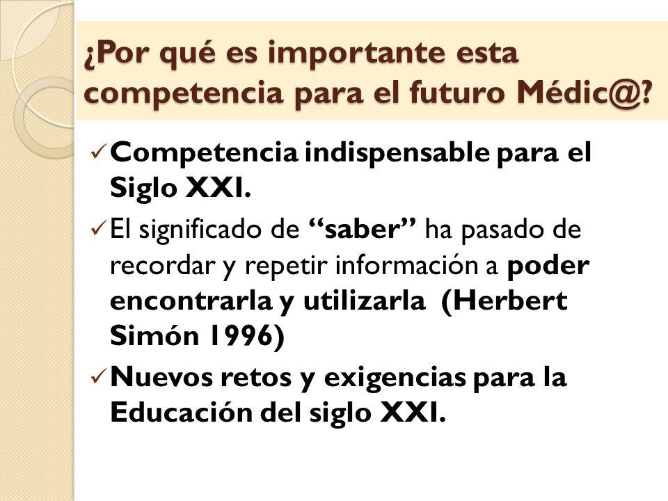 ¿Por qué es importante esta competencia para el futuro Médic@