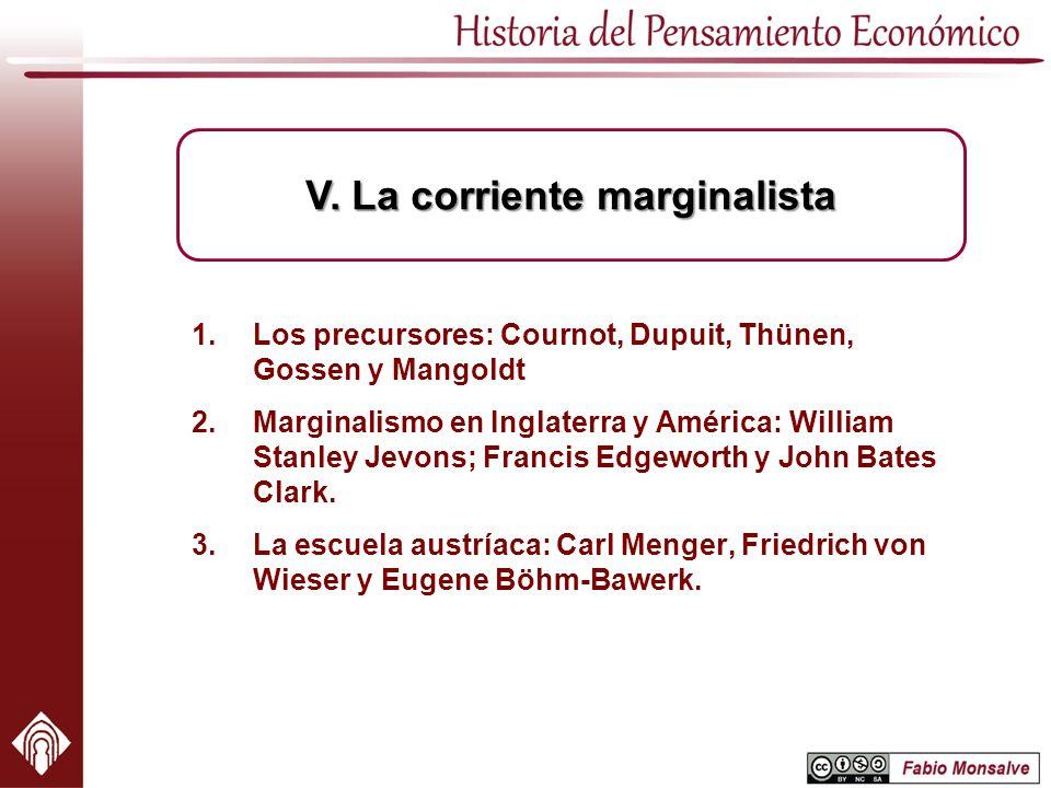V. La corriente marginalista