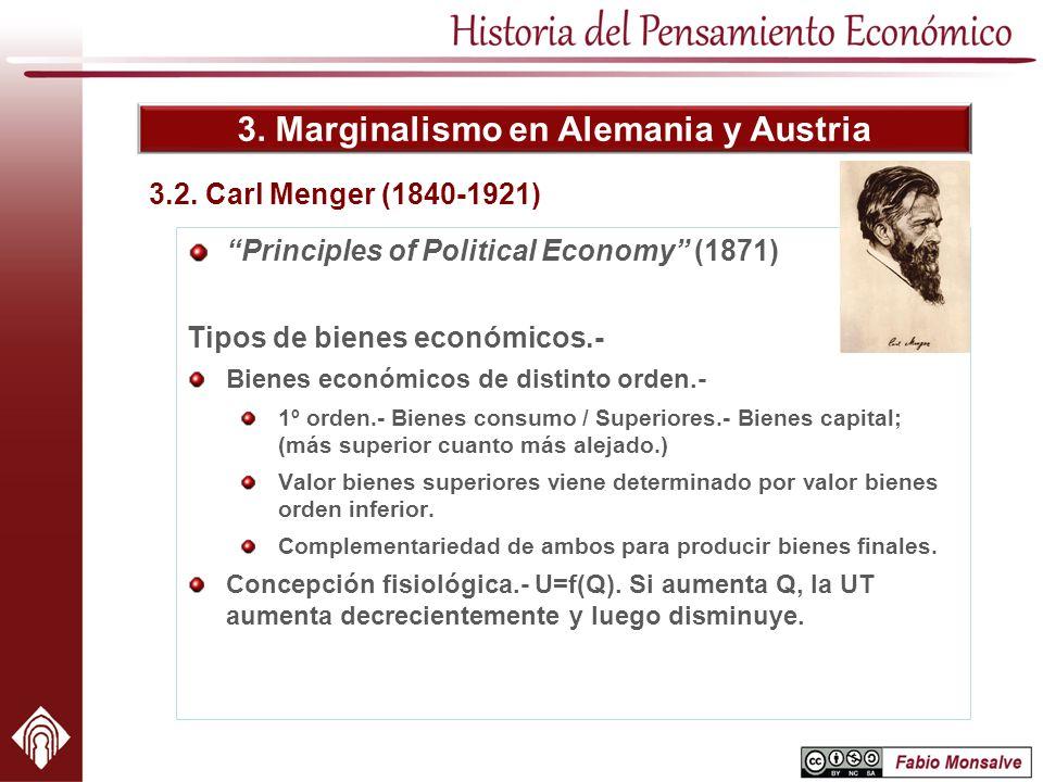 3. Marginalismo en Alemania y Austria