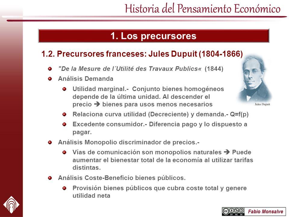 1.2. Precursores franceses: Jules Dupuit (1804-1866)