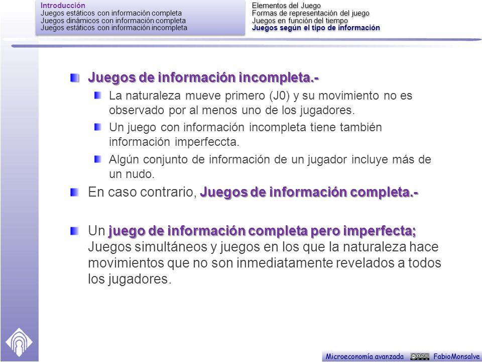 Juegos de información incompleta.-