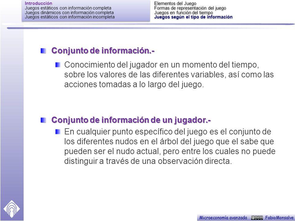 Conjunto de información.-