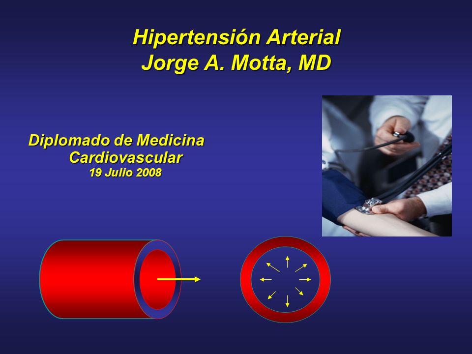 Hipertensión Arterial Jorge A. Motta, MD