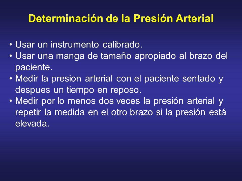 Determinación de la Presión Arterial