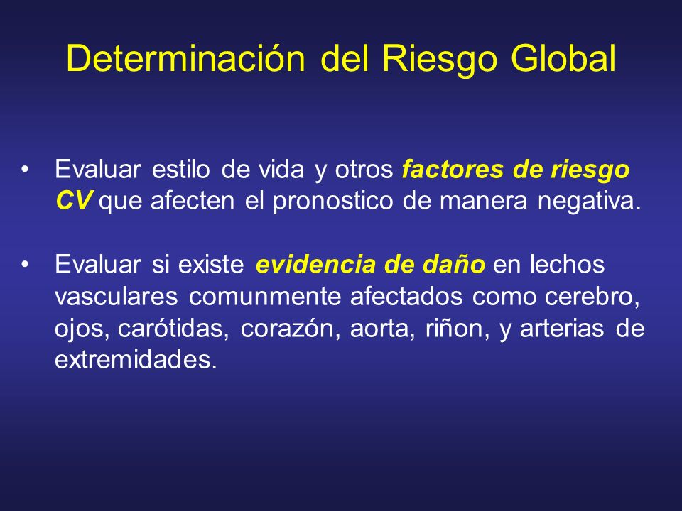 Determinación del Riesgo Global