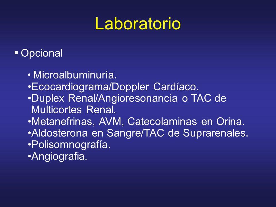 Laboratorio Opcional Microalbuminuria.