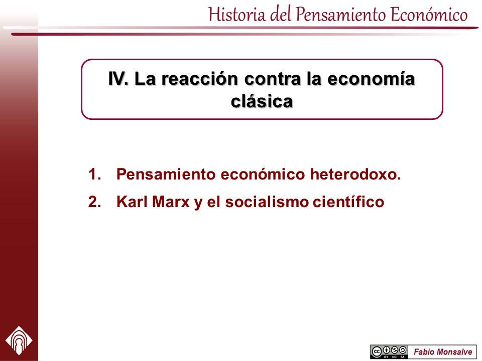 Pensamiento económico heterodoxo. Karl Marx y el socialismo científico