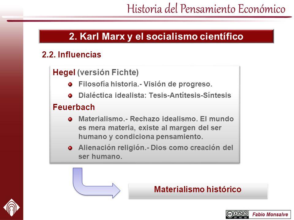 2. Karl Marx y el socialismo científico Materialismo histórico