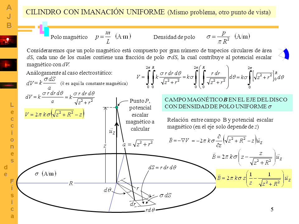 Punto P, potencial escalar magnético a calcular