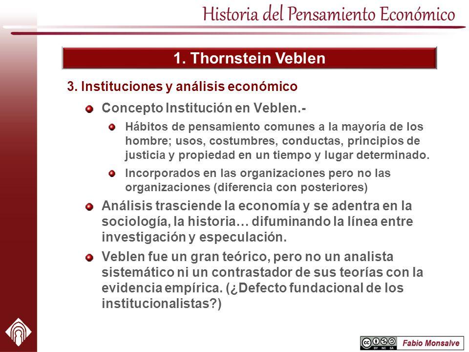 3. Instituciones y análisis económico