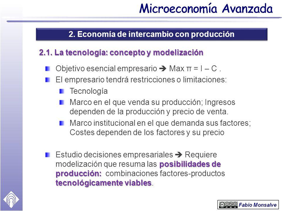 2.1. La tecnología: concepto y modelización