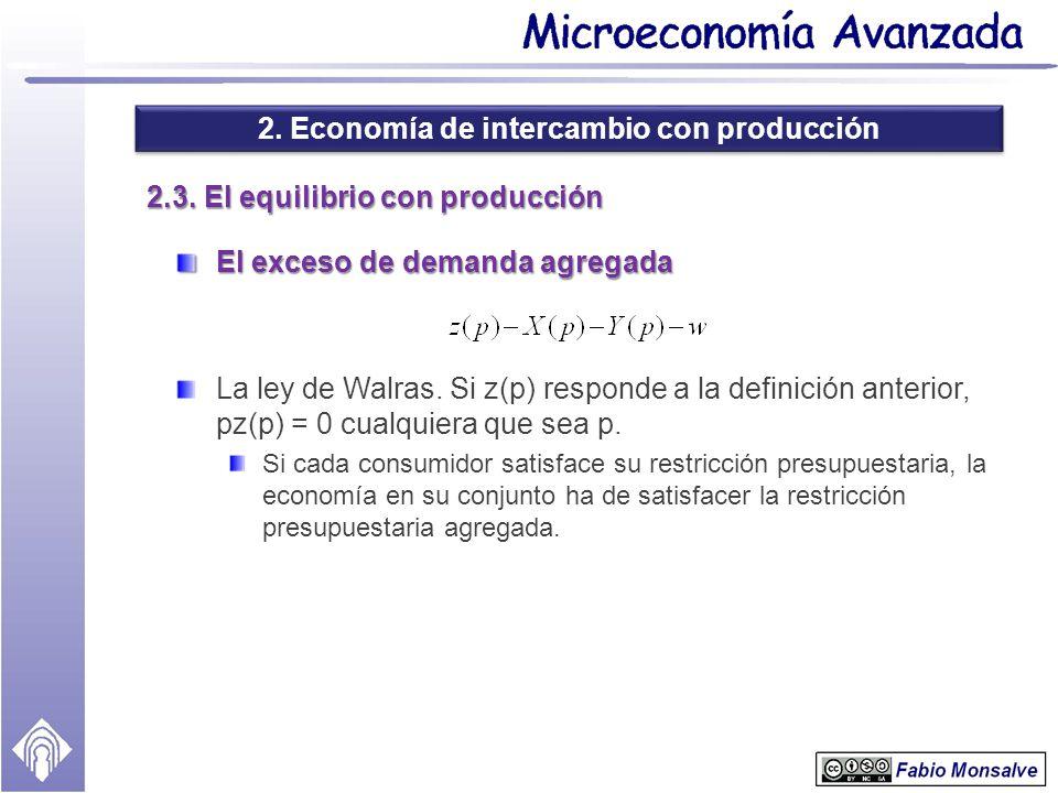 2.3. El equilibrio con producción