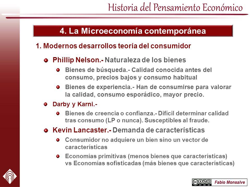 1. Modernos desarrollos teoría del consumidor