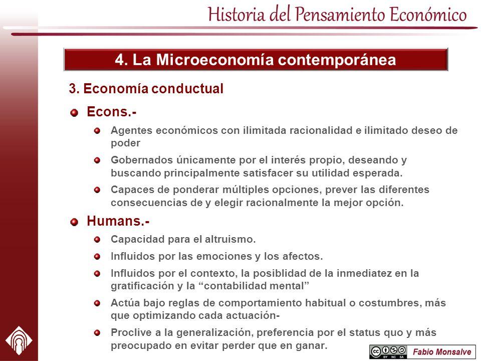 4. La Microeconomía contemporánea